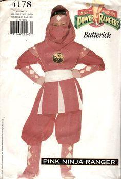 Butterick 4178 Childs Pink Ninja Ranger POWER RANGER by mbchills