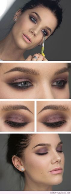 Linda Hallberg pink eye makeup