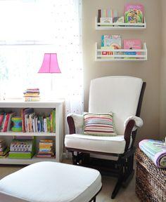 @MrsLimestone {Brooklyn Limestone}'s freshly painted bedroom - via MyColortopia.com Nursery Room, Baby Room, Babies Nursery, Nursery Ideas, Wall Storage, Basket Storage, Storage Ideas, Nursing Chair, Diy Home Decor Projects