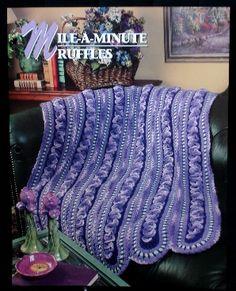 Mile-A-Minute Ruffles afghan crochet pattern