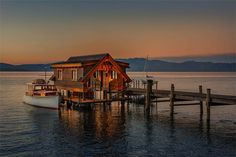 """An award winning Craftsman design, """"Eagles Nest"""" expresses a consistent theme of quality finishes and commitment to design detail. The cobalt blue waters of Lake Tahoe provide the ultimate backdrop."""