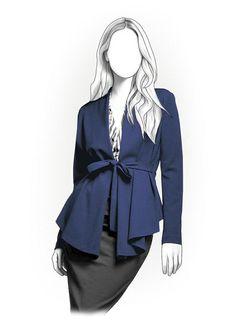 Patrón de costura de PDF 4163  Rebeca/chaqueta de las por TipTopFit