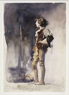 John Singer Sargent - Boy in Costume - Early 1880s.