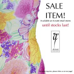 Celebrate Sunday with a sale!  #Avirate #EOSS #Saleitems #Floral