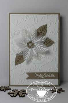 Yvonne is Stampin' & Scrapping: Stampin' Up! Christmas Card Festive Flower Builder Punch #stampinup