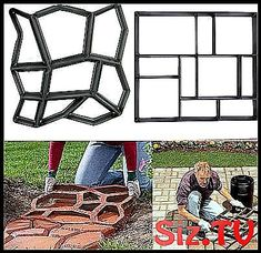 2019 Amenitee Paving Mould Easy Path 038 P - Recycled Garden Ideas Stone Garden Paths, Garden Stones, Stone Road, Brick Molding, Recycled Garden, Well Thought Out, Growing Plants, Garden Planning, Design Elements