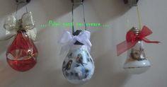 ... PITTURA SU VETRO/DE'COUPAGE: decoriamo l'albero di Natale con le lampadine fulminate..