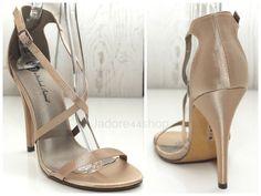 Michael Antonio Janette-Sat Champagne Satin Sz 6.5 M Open Toe Stiletto Heels $45 #MichaelAntonio #Stilettos #Formal