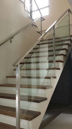 Glass Stair Railing at Better Living, Paranaque, Philippines By: Cavitetrail Enterprise