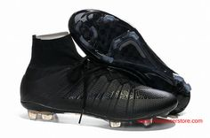 0572c2912 Cheap Super Nike Mercurial Superfly FG ALL Black Football Boots for sale  online