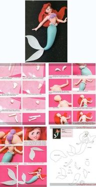 """Last pinners comment: """"tinkerbell fondant tutorial - Google Search"""" THIS IS ARIEL YOU UNCULTURED SWINE!!!!"""