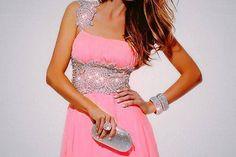 Pink girls night out dress
