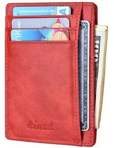 Hommes Cuir Porte Monnaie petit Slim RFID Protection dans boite cadeau 2 Couleurs Haute Qualité