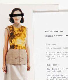 Maison Martin Margiela semi-couture yellow velvet breastplate - V A N II T A S