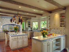 Sunshine and daffodils! #kitchen #tile
