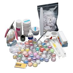 DEESEE(TM) 27 Acrylic Nail Art Tips Powder Liquid Brush Glitter Clipper Primer File Set Kit * This is an Amazon Affiliate link. Check out the image by visiting the link.