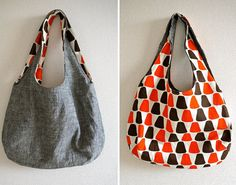 simple sewing tutorials for spring - reversible bags