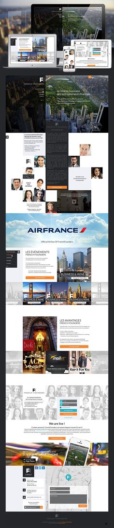 French Founders concept #UI #webdesign
