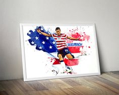 Abby Wambach Womens United States Print Poster by TroutLifeStudio