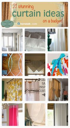 Days of Chalk and Chocolate: 21 Curtain Ideas on a Budget!