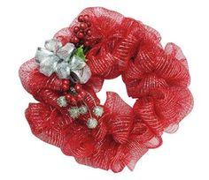 Make It with Joy Ribbon Mesh Wrapped Wreath