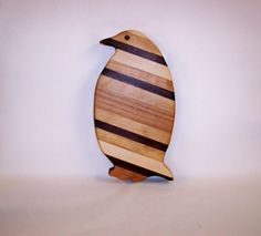 Penguin Cheese Cutting Board by tomroche on Etsy