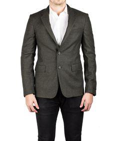 PRADA Prada Men'S Notched Lapel Virgin Wool Viscose Sport Jacket Coat Blazer Olive'. #prada #cloth #coats & jackets
