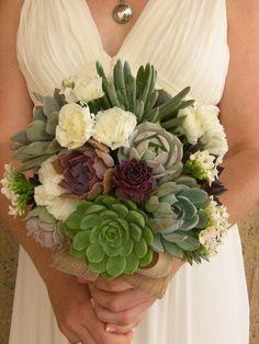 Wedding succulent bouquet for Julie by SucculentlyUrban on Etsy