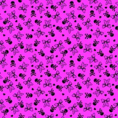 skulls and bows fabric by bellalani on Spoonflower - custom fabric Phone Backgrounds, Phone Wallpapers, Badass Wallpaper Iphone, Gothic Pattern, Alice Costume, Art Clipart, Paint Shop, Custom Dolls, Textile Patterns