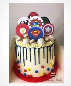 Avengers Birthday Cakes, Superhero Birthday Cake, Diy Birthday Cake, Superhero Cake Toppers, Marvel Cake, Superman Cakes, Cake Shop Names, Easy Minecraft Cake, Minecraft Marvel