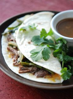 Brisket tacos. Must try. Craig just smoked the BEST brisket last week.