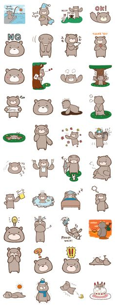 monobear – LINE stickers Wallpaper Stickers, Kawaii Wallpaper, Kawaii Stickers, Cute Stickers, Bear Cartoon, Cute Cartoon, Cartoon Drawings, Cute Drawings, Cute App