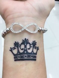 Loving my new tat.. Always have been and will be his precious princess of America, and I'll always wear my invisible crown. #crown tattoo