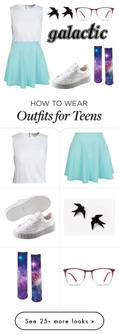"""""""Galactic, Man"""" by l-bee23 on Polyvore featuring Canvas by Lands' End, Puma, New Look and Urban Pipeline"""