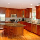 Pennville custom cabinetry - inset cherry cabinets