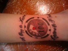 Poker Chip Tattoo
