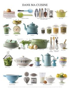FLE- vocabulaire/ vocabulary Vaisselle- ustensiles de cuisine/ French~kitchen utensils