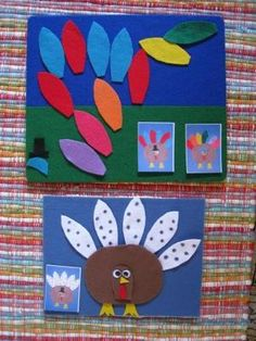 felt turkey (hopefully I have a felt board by thanksgiving!)