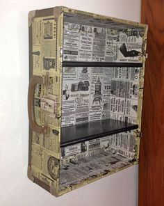 Hey, I found this really awesome Etsy listing at https://www.etsy.com/listing/156919524/60s-vintage-suitcase-shelf-decoupaged-in