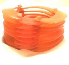2 Inch Wide Lucite Ring Bangle Bracelet Vintage  by bitzofglitz4u, $65.00