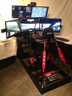 FINISHED:Black Motion Simulator mit Traction Loss  Simulator  40x40 Aluprofile Rig SimXperience 150mm SCN5 Starterkit with Simcommander 3. Behringer Europo...