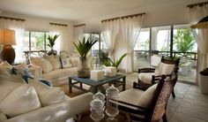 White Curtain For Tropical Living Room Decorating Ideas With Ivory Wall Color And Elegant Sofa Set