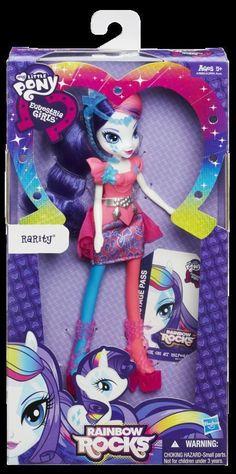 My Little Pony Neon Rainbow Rocks Rarity Doll Equestria Girls #Hasbro