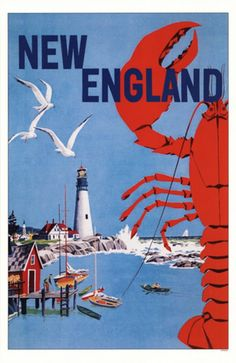Vintage New England Go Greyhound Original Bus Travel Poster England Travel Poster, New England Travel, Old Poster, Retro Poster, Travel Ads, Bus Travel, Travel Photos, Travel Backpack, Party Vintage