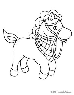flowered horse coloring page. cute and amazing farm animals ... - Farm Animal Coloring Pages Sheets