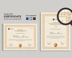 Certificate Template Certificate Design Word | Etsy Certificate Format, Printable Certificates, Certificate Design, Certificate Templates, Resume Templates, Certificate Of Appreciation, Certificate Of Achievement, Change Image, User Guide