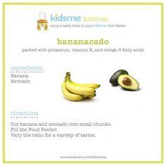 Banana Cado Baby Food #Recipe