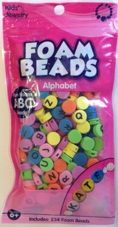Alphabet Foam Beads by Horizon