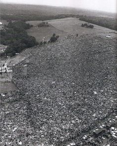 """Woodstock, 1969.  """"They went to a psychedelic pasture to listen to their music, to be with people who dressed like them..."""