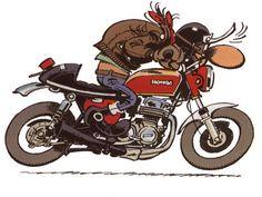 Honda Cb750 Cafe Racer | Cling on for dear life !!!: Joe BAR Team - CB750 Café Racer